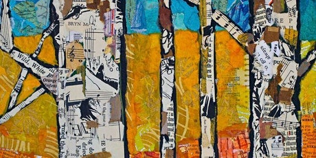 Collage Landscape with Newspapers and Paint, All ages are welcome tickets