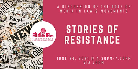 Stories of Resistance: the Role of Media in Law & Movements tickets