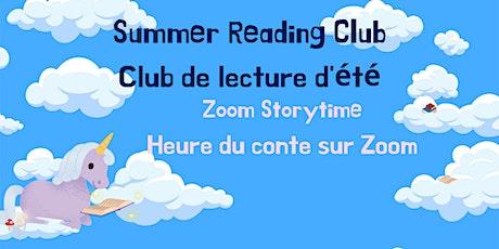 Wednesday SRC Zoom Storytime / Heure du conte CLE sur Zoom (mercredi) billets
