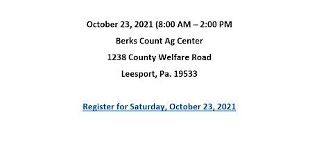 BERKS COUNTY HOUSEHOLD HAZARDOUS WASTE COLLECTION - October 23, 2021 tickets
