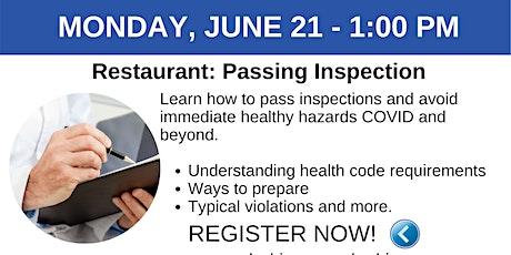 RESTAURANT Webinar: 6/21 Passing Inspections tickets