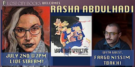 who is owed springtime by Rasha Abdulhadi with guest Fargo Nissim Tbakhi tickets