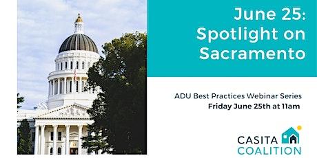 ADU Best Practices Webinar Series: Spotlight on Sacramento tickets