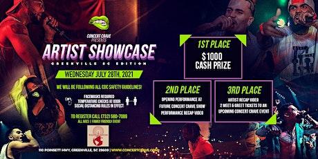 Concert Crave Artist Showcase - Greenville, SC 7.28.21 tickets