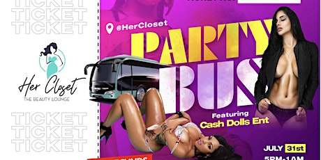 HerCloset Anniversary Party Bus tickets