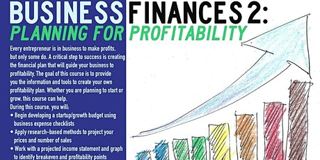 Business Finances 2: Planning for Profitability, Queens, 7/22/2021 tickets