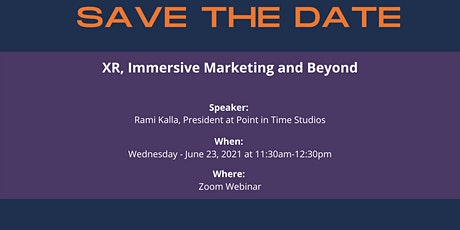 XR, Immersive Marketing and Beyond tickets