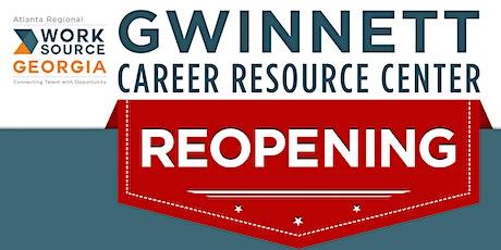 Gwinnett Career Resource Center Reopening tickets