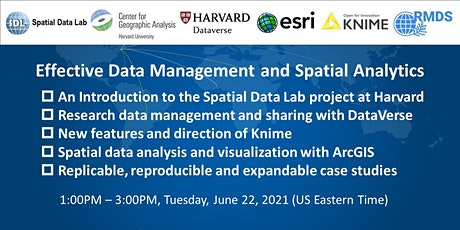 Effective Data Management and Spatial Analytics tickets
