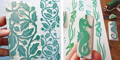 Workshop - Stempel schnitzen / Textildruck - Stamp Carving and Printing Tickets