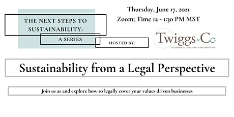 Sustainability from a Legal Perspective - Next Steps to Sustainability tickets