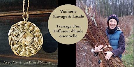 VANNERIE :Tressage d'un diffuseur d'huile essentielle/Arielle Prince-Ferron billets