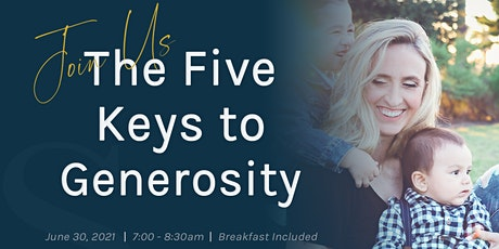 The Five Keys to Generosity Event tickets