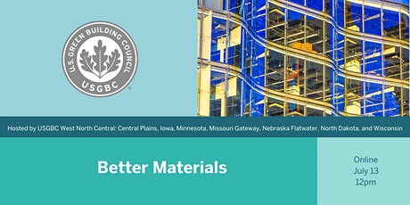 USGBC WNC Lunch and Learn: Better Materials tickets