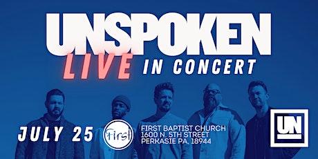 Unspoken LIVE in Concert tickets