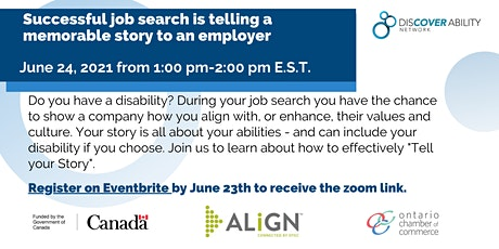 Job search: Telling Your Story tickets
