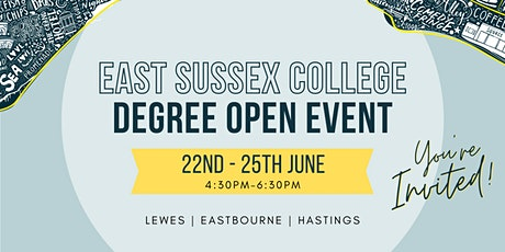 Degree Open Event in Eastbourne tickets