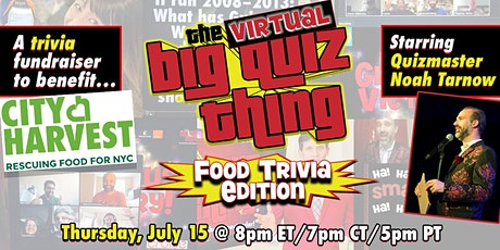 The Big Quiz Thing's Virtual Trivia Spectacular: Food Trivia Edition tickets