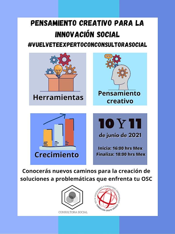 Imagen de Pensamiento creativo para la Innovación Social (taller 2 sesiones)