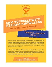 Arm Yourself With Reading Knowledge: A Literacy Night For Families tickets