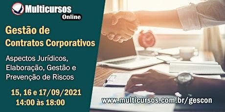 Gestão de Contratos Corporativos ingressos