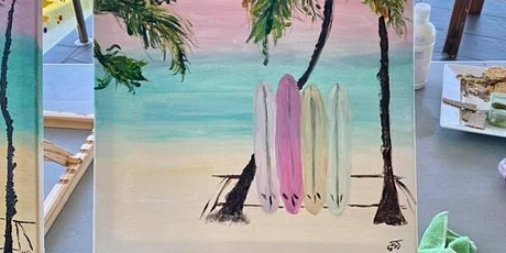 """"""" Rose and Renoir """" - surfboards and sunset tickets"""