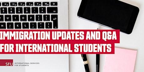 Immigration Updates and Q&A for International Students biglietti
