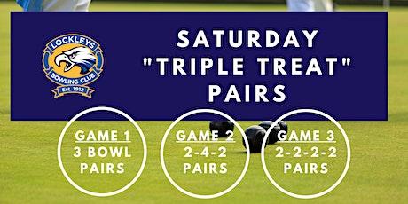 Saturday Triple Treat Pairs - Week 2 tickets