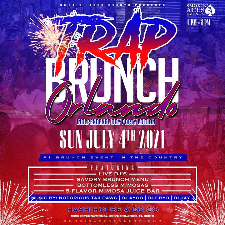 TRAP BRUNCH™: Independence Day Party Edition at HASH HOUSE image