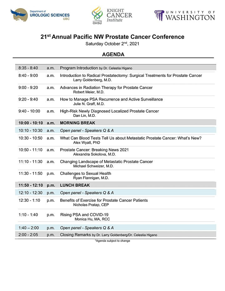 21st Annual Pacific Northwest Prostate Cancer Conference image