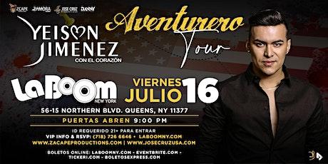 "YEISON JIMÉNEZ ""AVENTURERO TOUR"" NEW YORK tickets"