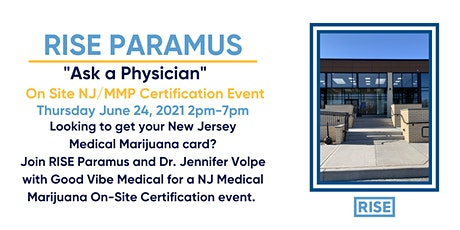 RISE Paramus Open House On-Site NJMMP Certifications - Dr. Jennifer Volpe tickets