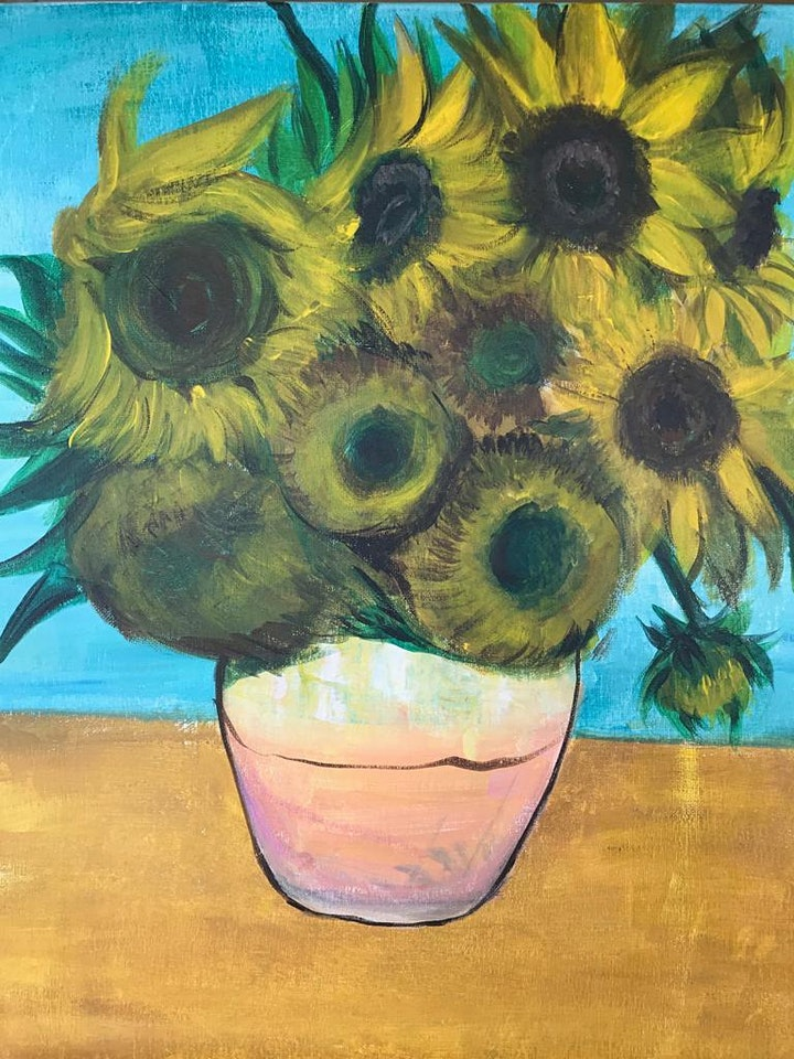 Chill & Paint Friday Night  Auck City Hotel  - Van Gogh Sunflower(SOLD OUT) image
