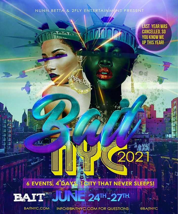 BAIT NYC 2021 PRIDE FOR WOMEN JUNE 24th - JUNE 27th!!! image