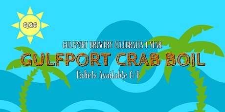 Gulfport Brewery Crab Boil tickets
