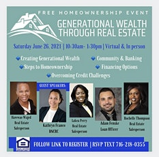 Generational Wealth through Real Estate tickets