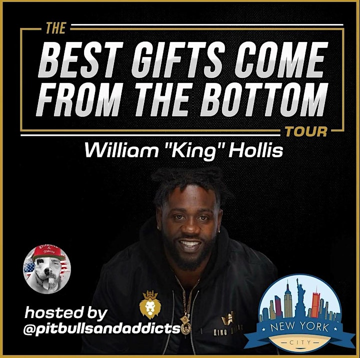 """William King Hollis """"The Best Gifts Come From The Bottom"""" Book Tour image"""