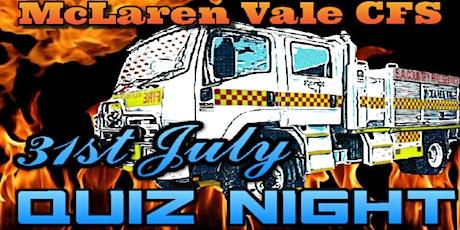 McLaren Vale CFS Quiz Night tickets