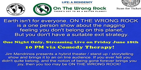 """Residency Series - Jim Mendrinos """"On The Wrong Rock"""" - June 18th tickets"""