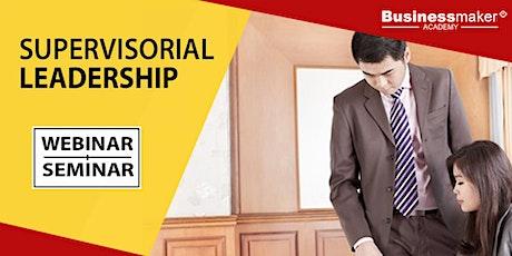Live Webinar: Leadership Training for Supervisors tickets