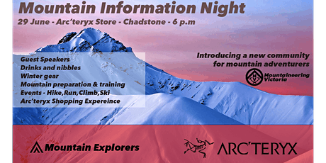 Mountain Information Night with Arc'teryx - Gear, Training  and Events tickets