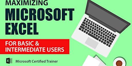 Live Webinar: Maximizing Microsoft Excel for Basic & Intermediate Users tickets