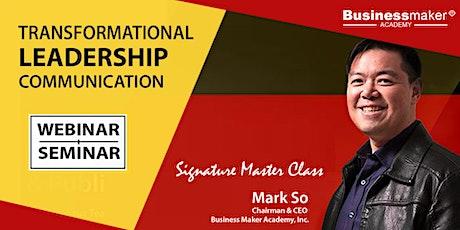 Live Webinar: Transformational Leadership Communication tickets