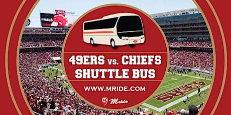 49ers vs. Chiefs  Levi's Stadium Shuttle Bus tickets
