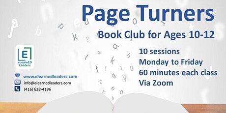 Page Turners - Virtual Book Club for Ages 10-12 (10 sessions) tickets