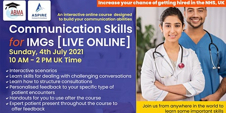 Communication Skills for International Medical Graduates (IMGs) tickets