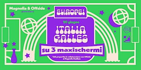 Magnolia & Offside presentano Gli Europei | ITALIA - GALLES biglietti