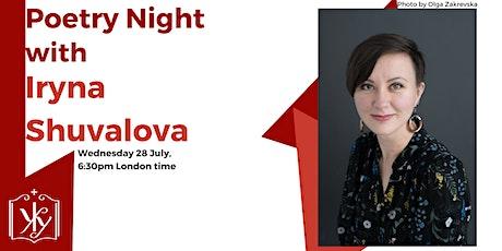 Poetry night with Iryna Shuvalova tickets