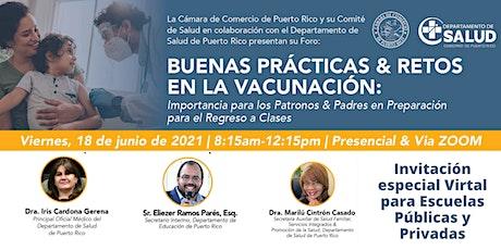 Buenas Prácticas y Retos en la Vacunación boletos
