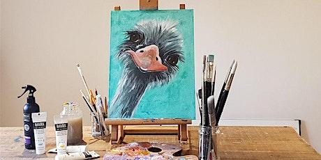 'Ostrich' Painting  workshop & Afternoon Tea @Sunnybank Hatfield tickets